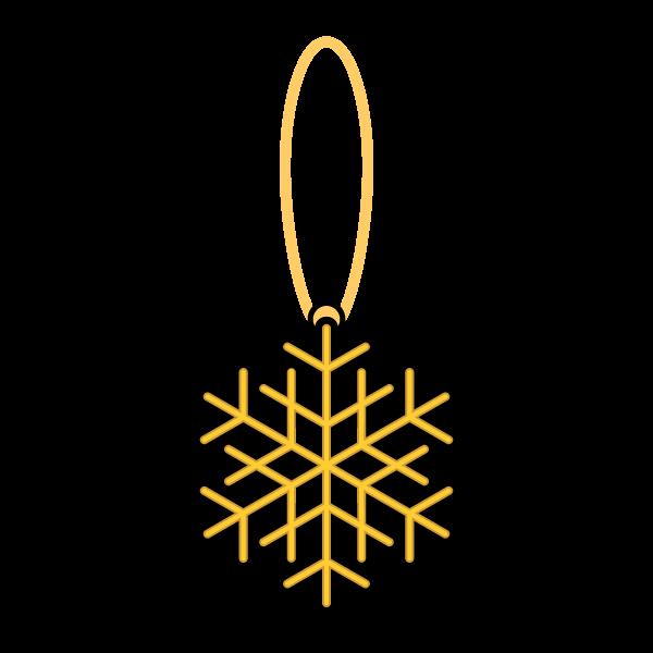 かわいいクリスマスオーナメント(飾り)雪の結晶2の無料イラスト・商用フリー