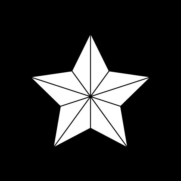 塗り絵に最適な白黒でかわいいクリスマスオーナメント(飾り)星の無料イラスト・商用フリー