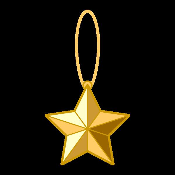 ソフトタッチでかわいいクリスマスオーナメント(飾り)星2の無料イラスト・商用フリー