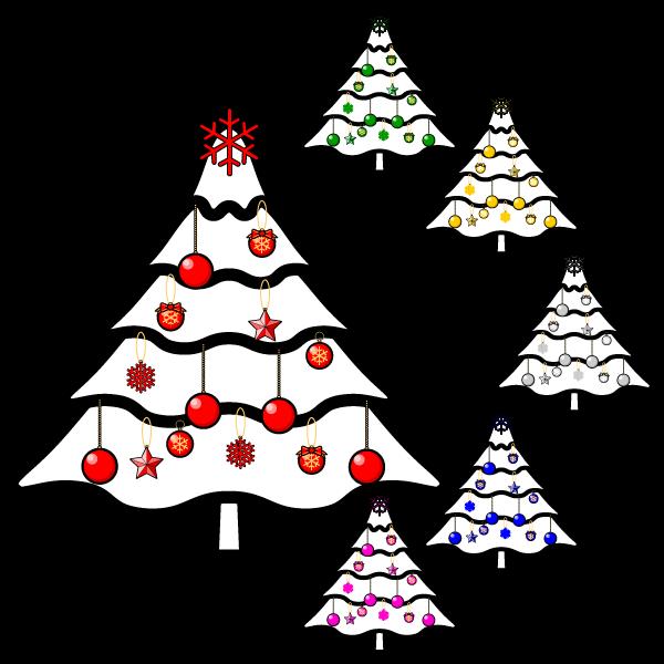 かわいいクリスマスツリー3の無料イラスト・商用フリー