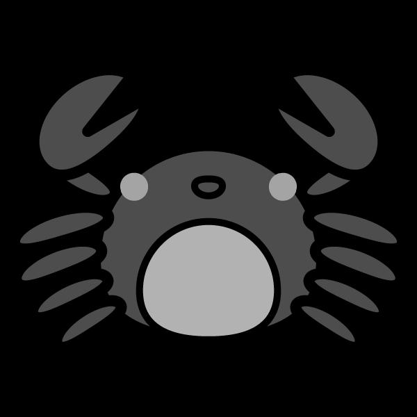 crab_front-monochrome