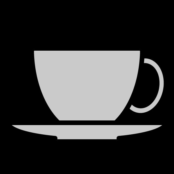モノクロでかわいいコーヒーカップの無料イラスト・商用フリー