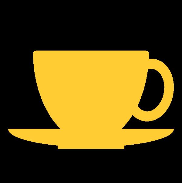 縁無しでかわいいコーヒーカップの無料イラスト・商用フリー