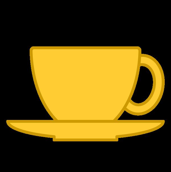 ソフトタッチでかわいいコーヒーカップの無料イラスト・商用フリー
