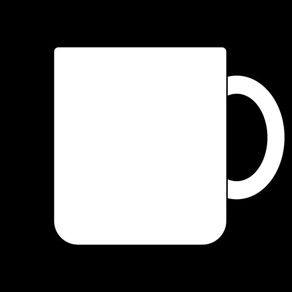 塗り絵に最適な白黒でかわいいマグカップの無料イラスト・商用フリー
