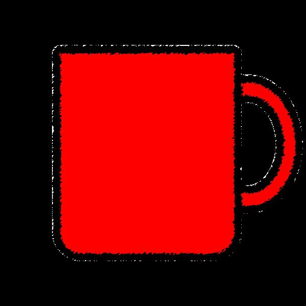 手書き風でかわいいマグカップの無料イラスト・商用フリー