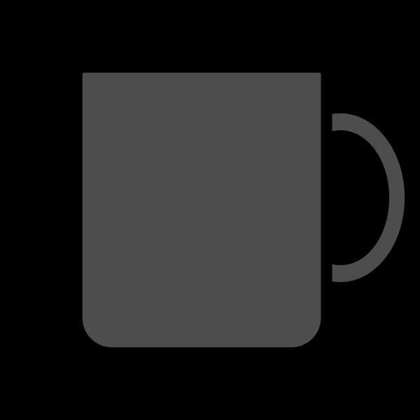 モノクロでかわいいマグカップの無料イラスト・商用フリー