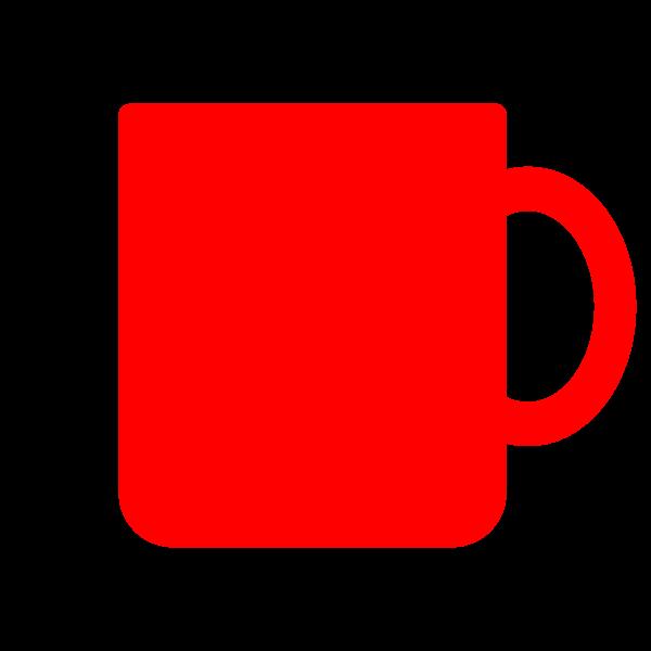 縁無しでかわいいマグカップの無料イラスト・商用フリー
