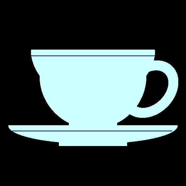 縁無しでかわいいティーカップの無料イラスト・商用フリー