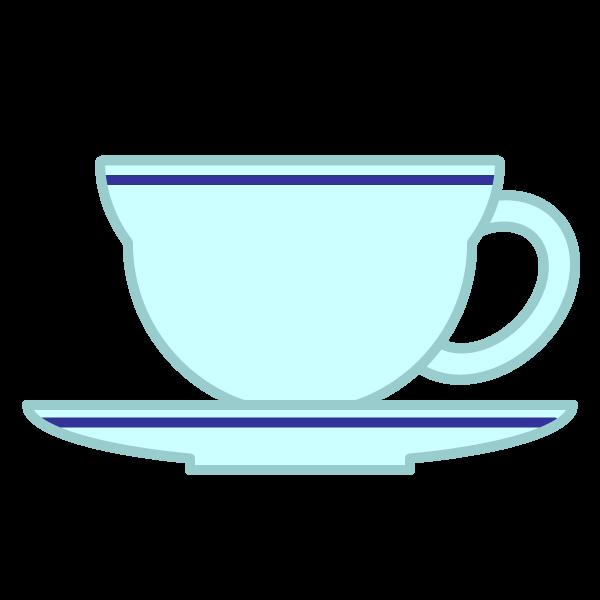 ソフトタッチでかわいいティーカップの無料イラスト・商用フリー