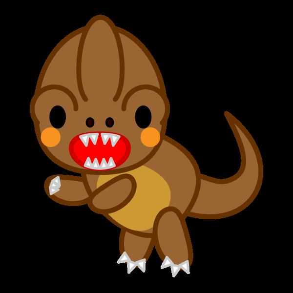 ソフトタッチでかわいい恐竜の無料イラスト・商用フリー