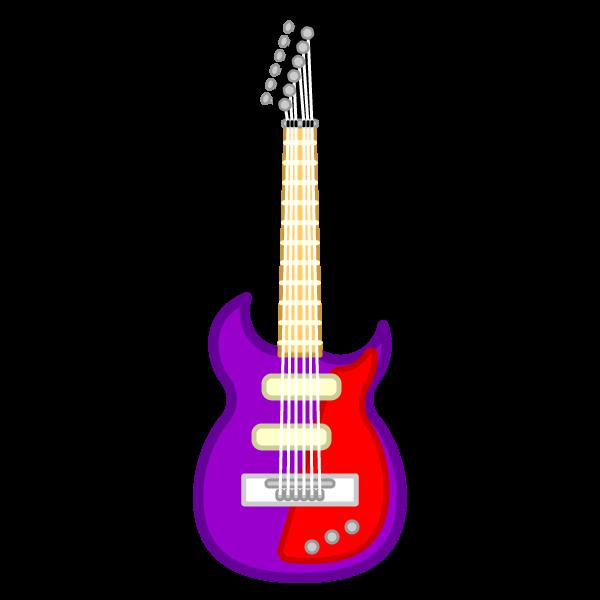 ソフトタッチでかわいいエレキギターの無料イラスト・商用フリー