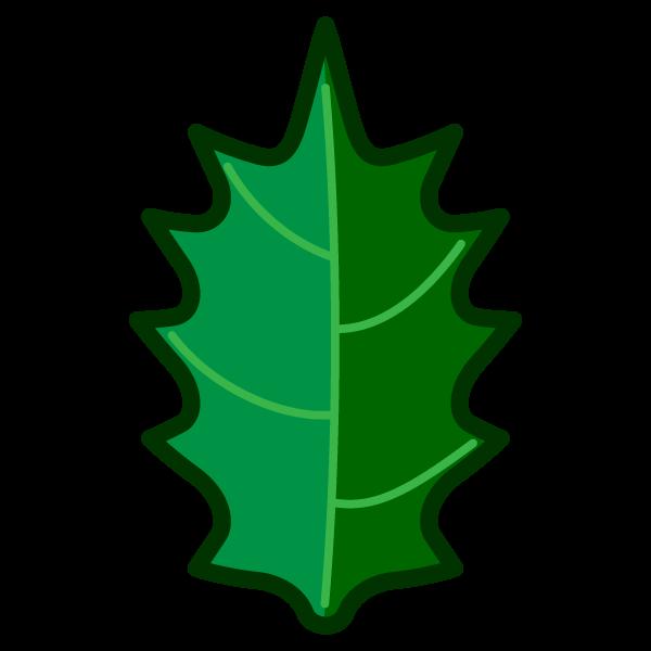 ソフトタッチでかわいいヒイラギの葉っぱの無料イラスト・商用フリー