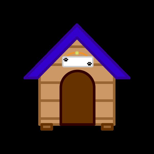 ソフトタッチでかわいい犬小屋の無料イラスト・商用フリー