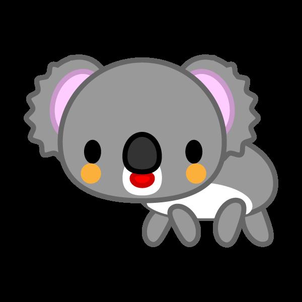 ソフトタッチでかわいいコアラの無料イラスト・商用フリー