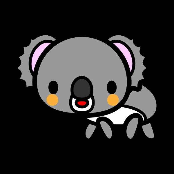 かわいいコアラの無料イラスト・商用フリー