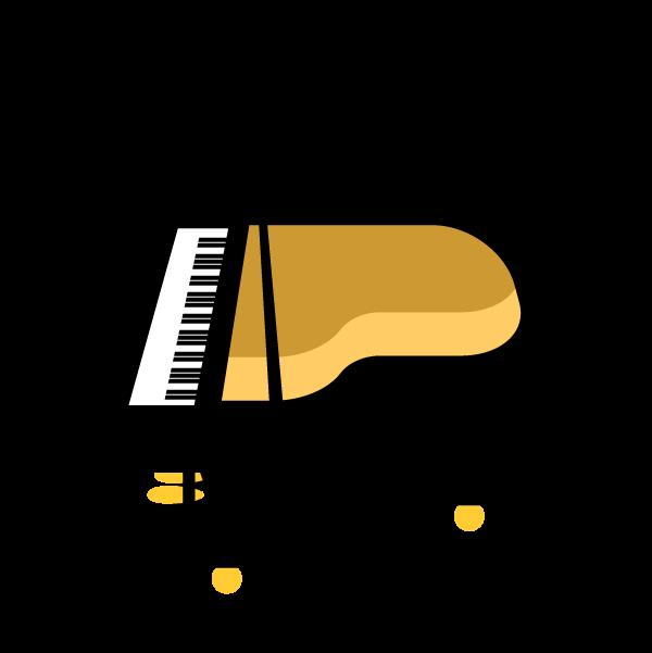 縁無しでかわいいピアノの無料イラスト・商用フリー