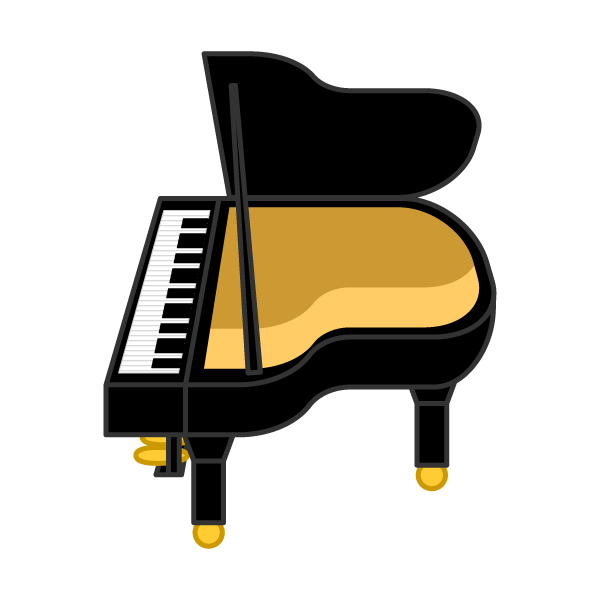 ソフトタッチでかわいいピアノの無料イラスト・商用フリー