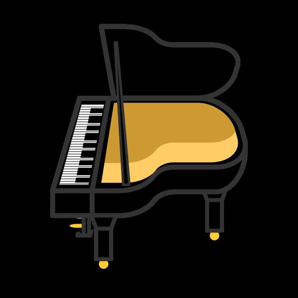 かわいいピアノの無料イラスト・商用フリー