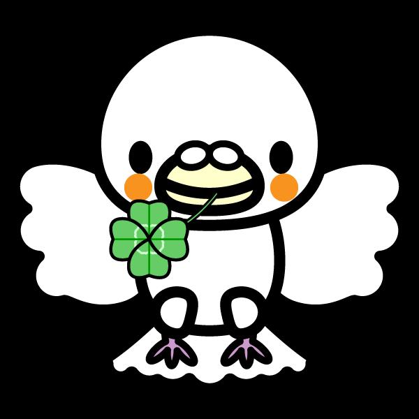 かわいい平和の白い鳩の無料イラスト・商用フリー