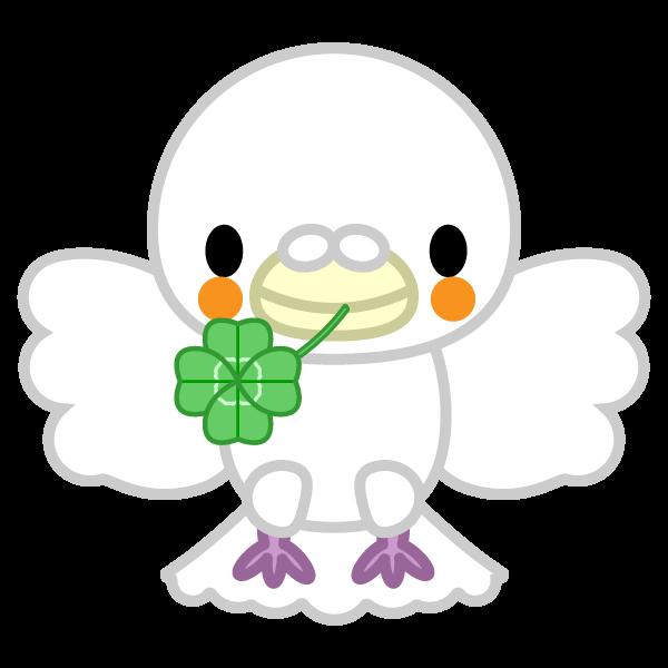 ソフトタッチでかわいい平和の白い鳩の無料イラスト・商用フリー