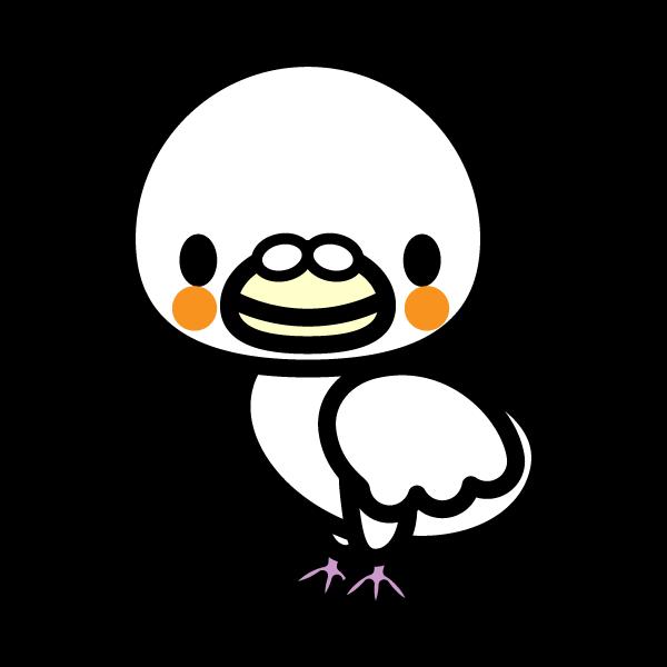 かわいい白い鳩の無料イラスト・商用フリー