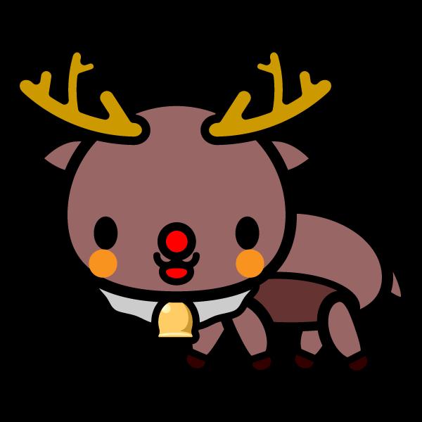 かわいいクリスマストナカイの無料イラスト・商用フリー