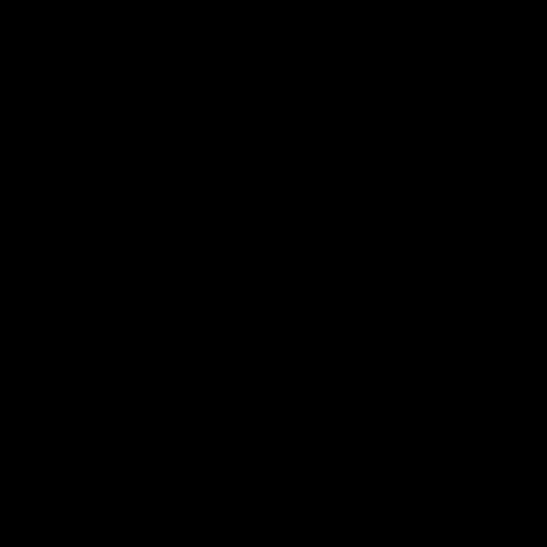 シルエットでかわいいソリに乗ったサンタクロースの無料イラスト・商用フリー