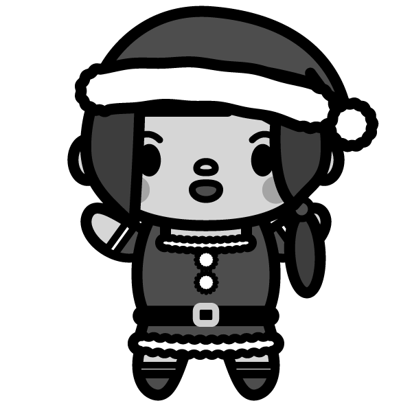 santa-woman_01-monochrome
