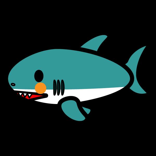 かわいいサメの無料イラスト・商用フリー