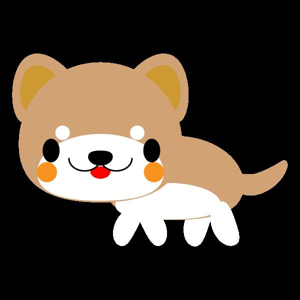 縁無しでかわいい柴犬の無料イラスト・商用フリー