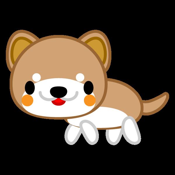ソフトタッチでかわいい柴犬の無料イラスト・商用フリー