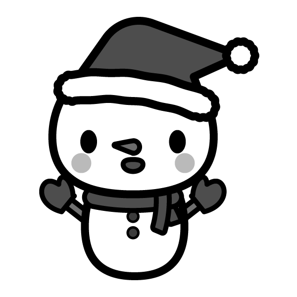 snow_man-christmas-monochrome