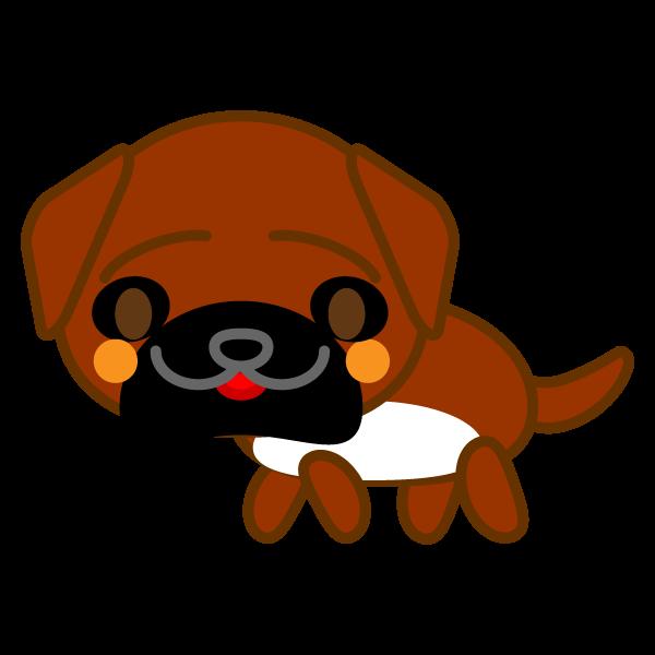 ソフトタッチでかわいい土佐犬の無料イラスト・商用フリー