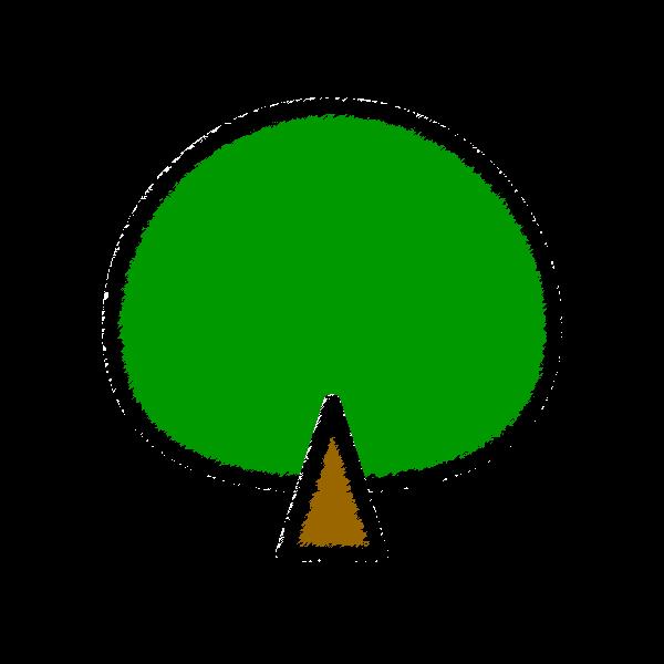 手書き風でかわいい木の無料イラスト・商用フリー