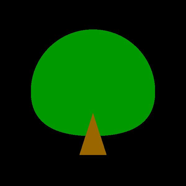 縁無しでかわいい木の無料イラスト・商用フリー