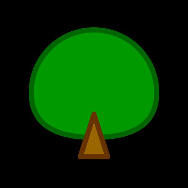 ソフトタッチでかわいい木の無料イラスト・商用フリー