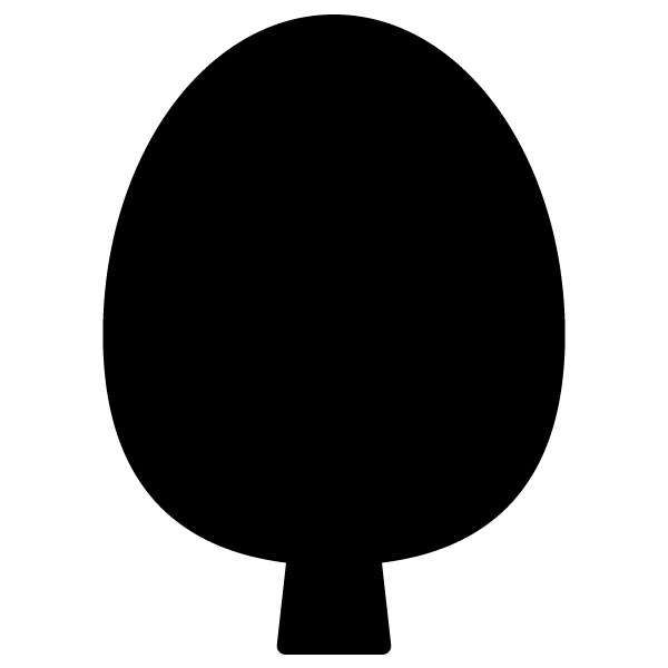 シルエットでかわいい木2の無料イラスト・商用フリー