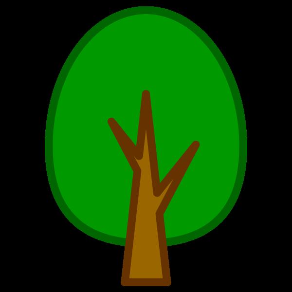 ソフトタッチでかわいい木2の無料イラスト・商用フリー