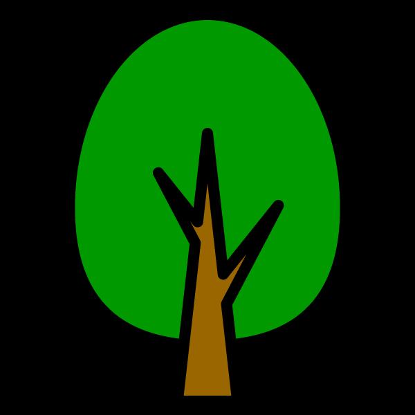 かわいい木2の無料イラスト・商用フリー
