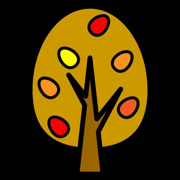 かわいい秋の木の無料イラスト・商用フリー