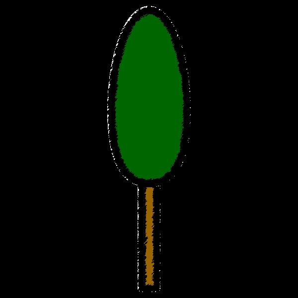 手書き風でかわいい杉の木の無料イラスト・商用フリー