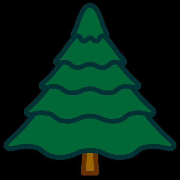 ソフトタッチでかわいいもみの木の無料イラスト・商用フリー