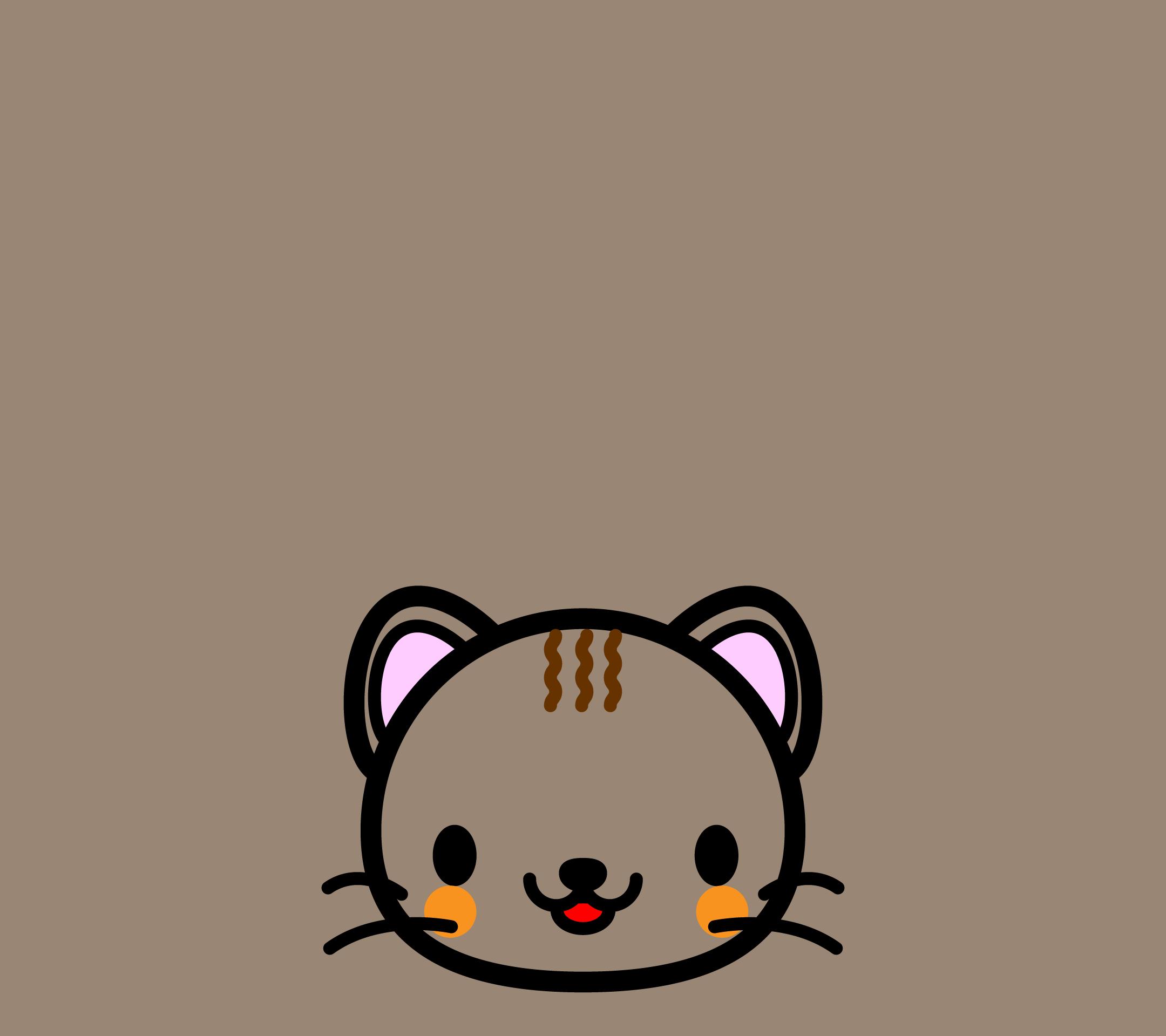 かわいい顔だけ猫壁紙(Android)の無料イラスト・商用フリー