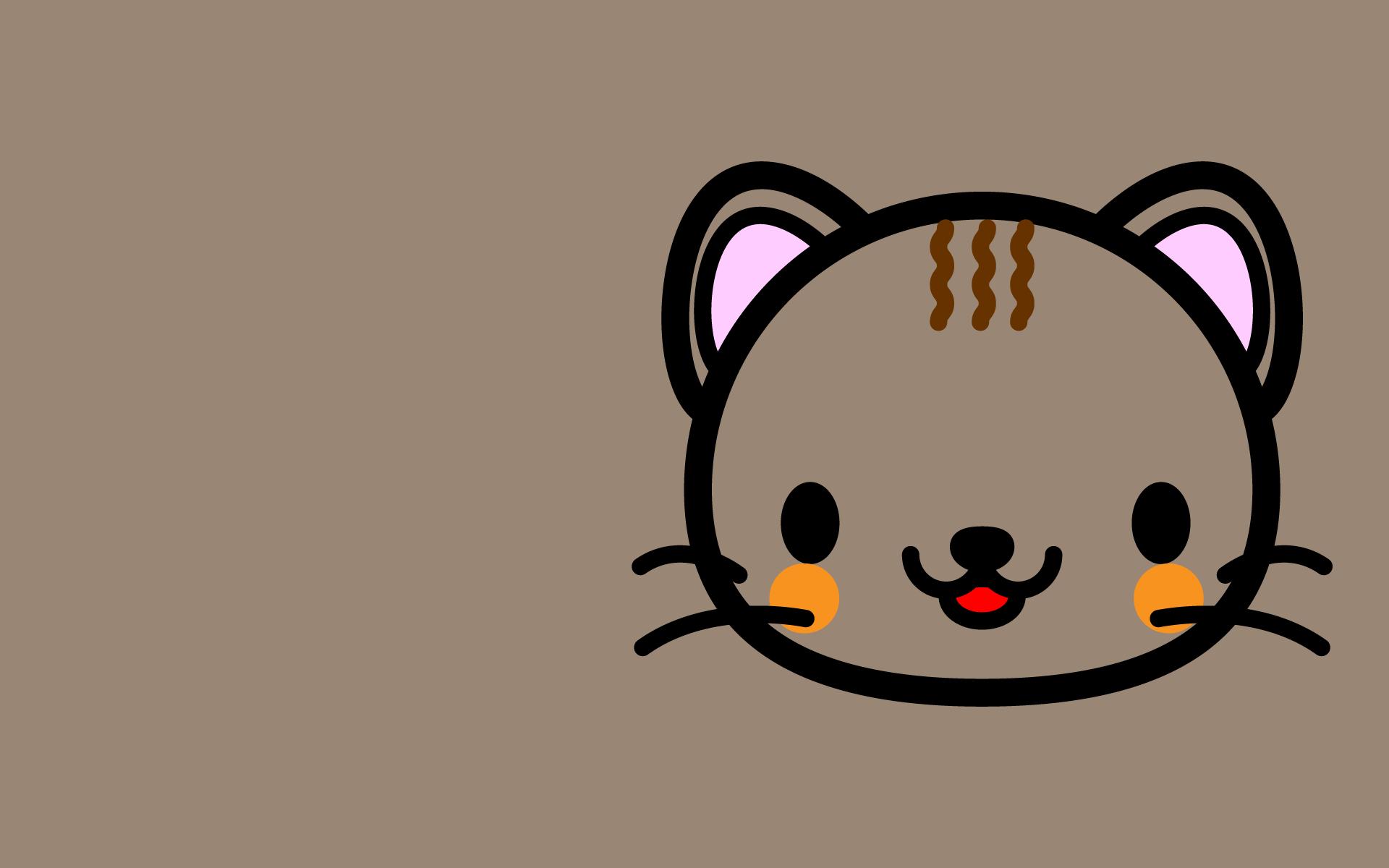 かわいい顔だけ猫壁紙(PC)の無料イラスト・商用フリー