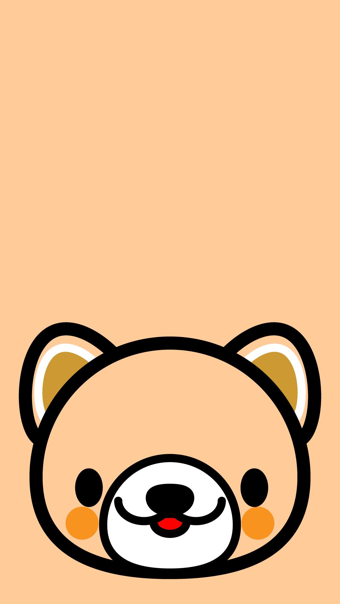 かわいい顔だけ犬壁紙(iPhone)の無料イラスト・商用フリー