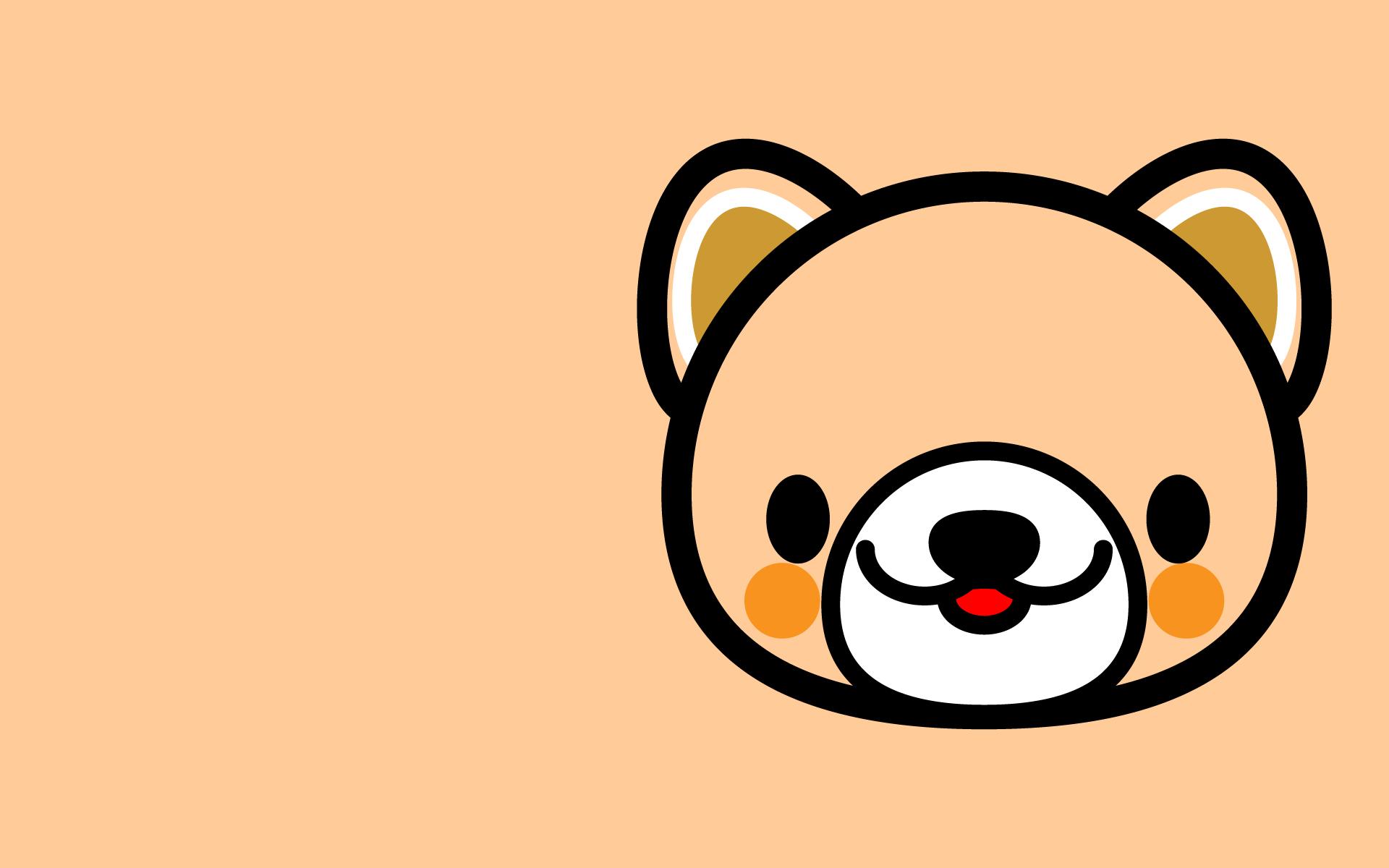 かわいい顔だけ犬壁紙(PC)の無料イラスト・商用フリー