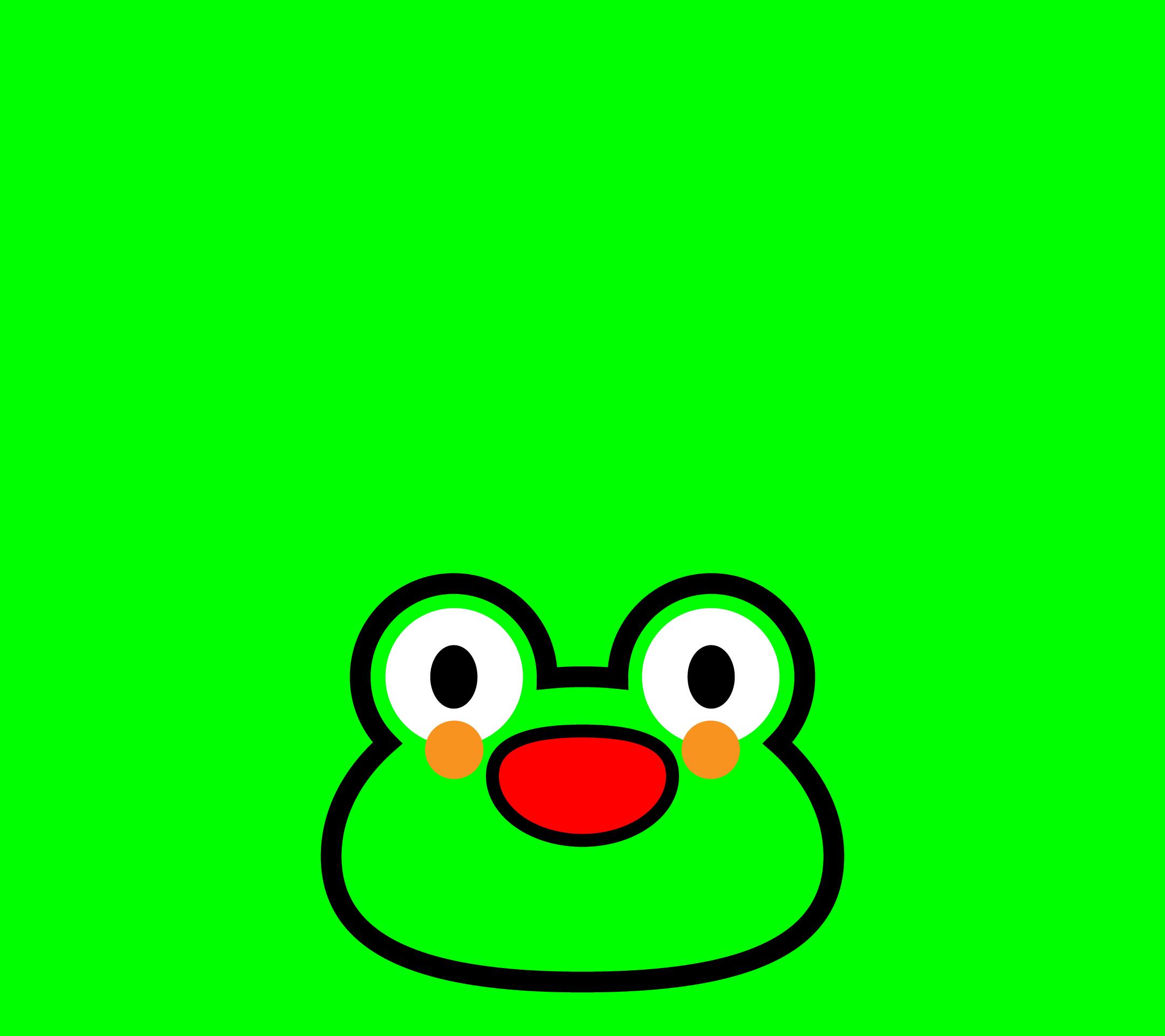 かわいい顔だけカエル壁紙(Android)の無料イラスト・商用フリー
