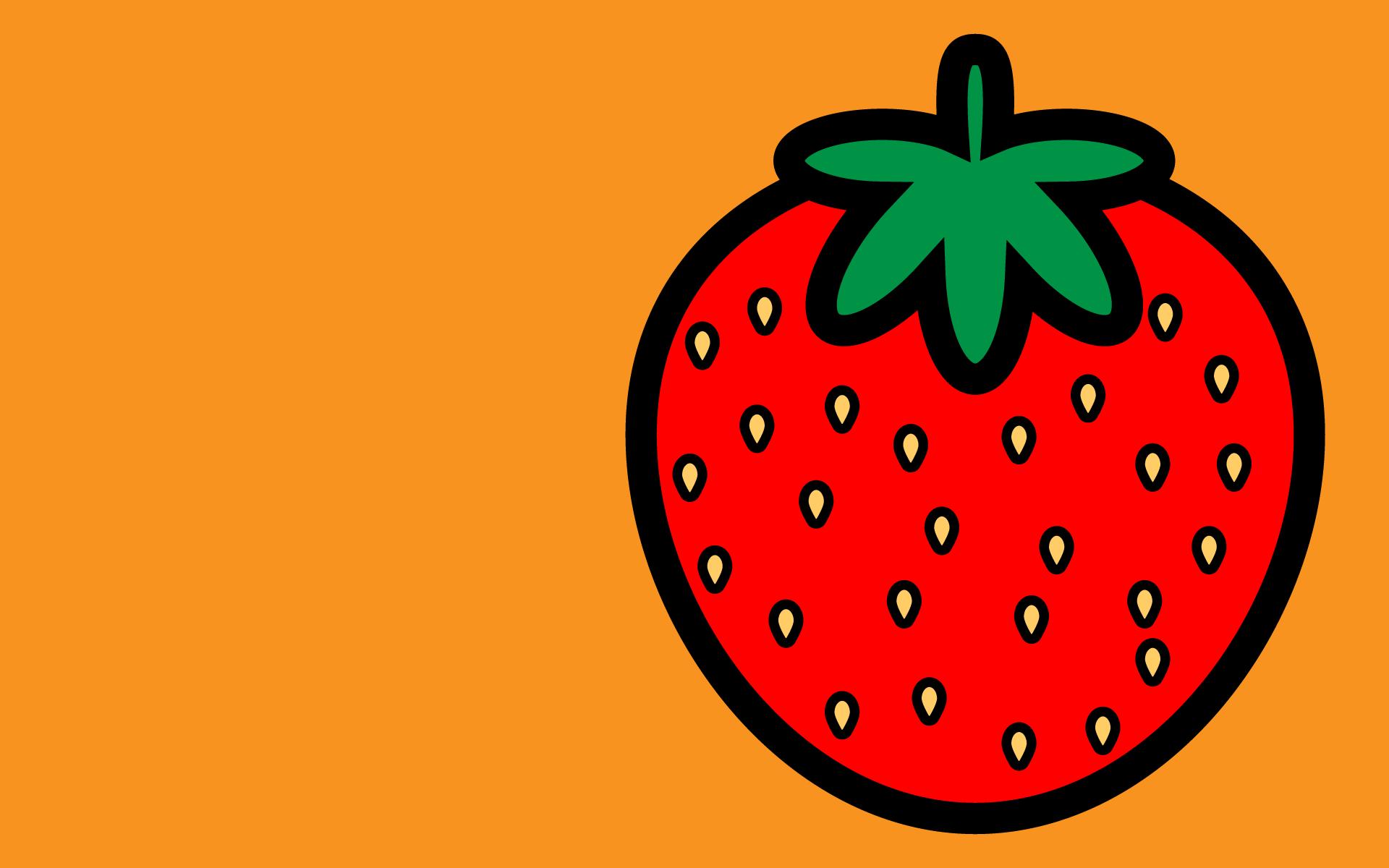 かわいいイチゴ壁紙(PC)の無料イラスト・商用フリー