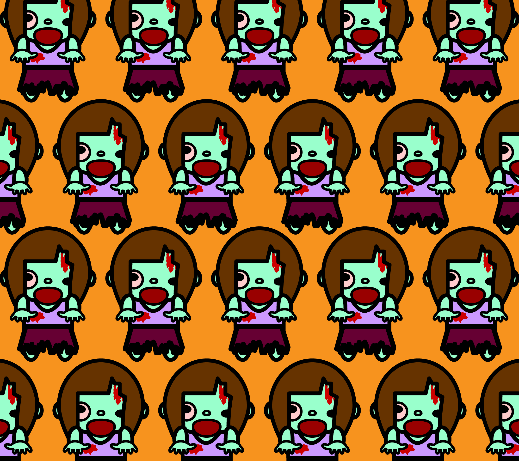 wallpaper2_zombie-woman-fill-orange-android